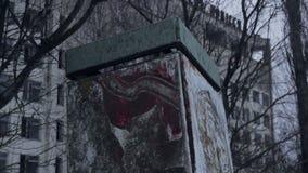 Zona de exclusión de Pripyat Chernóbil del fantasma Ucrania almacen de metraje de vídeo
