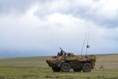 Zona de guerra com tanques Fotografia de Stock Royalty Free
