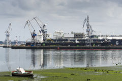 Zona de la construcción naval Fotografía de archivo