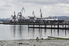 Zona de la construcción naval Imágenes de archivo libres de regalías