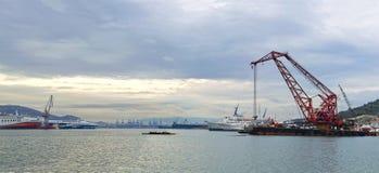 Zona de la construcción naval Fotos de archivo libres de regalías
