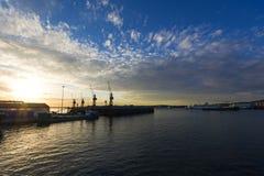 Zona de la construcción naval Foto de archivo