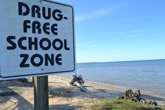 Zona de la escuela libre de la droga Fotografía de archivo