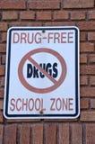 Zona de la escuela libre de la droga fotos de archivo libres de regalías