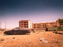 Zona de la guerra, área abandonada Fotos de archivo libres de regalías