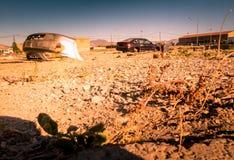 Zona de la guerra, área abandonada Imagenes de archivo