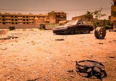 Zona de la guerra, área abandonada Fotos de archivo