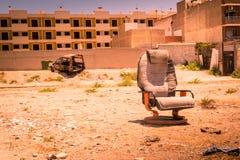 Zona de la guerra, área abandonada Imagen de archivo