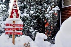 Zona de la nieve Imágenes de archivo libres de regalías