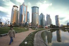 Zona de Lujiazui Finance&Trade del paisaje de la ciudad de la señal de Shangai Fotos de archivo