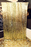Zona de lujo elegante de la chispa para las fotos en el PA de oro del cumpleaños Foto de archivo libre de regalías