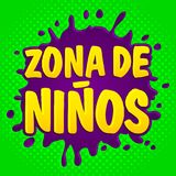 Zona de ninos, kids zone spanish text Stock Photography