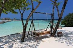 Zona de relajación - Ari Atoll, Maldivas fotos de archivo libres de regalías
