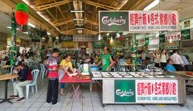 Zona de restaurantes de Chinatown, Kuala Lumpur Fotografía de archivo libre de regalías