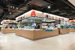 Zona de restaurantes en el centro comercial de MBK, Bangkok Fotos de archivo