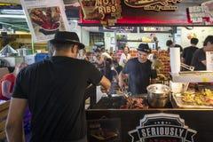 Zona de restaurantes y calle de Penang Fotografía de archivo