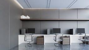 Zona de trabajo de lujo con la representación negra pared/3D Imagen de archivo libre de regalías
