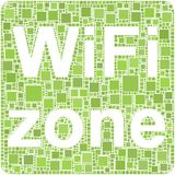 Zona de Wifi Imagens de Stock