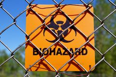 Zona del Biohazard Fotos de archivo libres de regalías