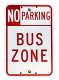 Zona del bus fotografia stock libera da diritti