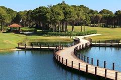 Zona del club di golf di Sueno. Fotografia Stock Libera da Diritti