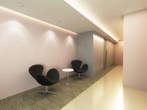 Zona del corridoio dell'ufficio Immagine Stock Libera da Diritti