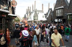 Zona del Harry Potter agli studi universali Orlando fotografia stock