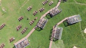 Zona del resto en el parque de Severnoye Tushino en Mosc?, Rusia almacen de video