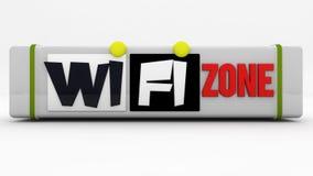 Zona del segno di WiFi Fotografia Stock