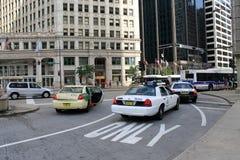 Zona del taxi di Chicago Fotografia Stock