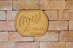 Zona del Wi-Fi del segno Fotografia Stock