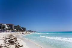 Zona dell'hotel, Cancun, MX fotografia stock