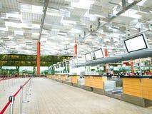 Zona dell'interiore del terminale di aeroporto Fotografie Stock Libere da Diritti