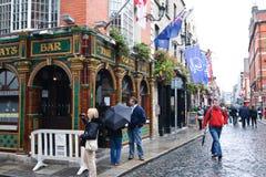 Zona della barra del tempiale a Dublino Fotografia Stock Libera da Diritti