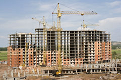 Zona della costruzione Immagini Stock