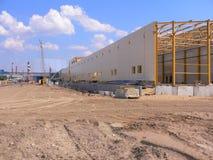 Zona della costruzione della fabbrica Fotografia Stock