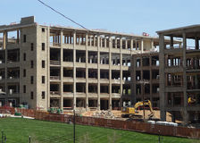 Zona della costruzione a Winston-Salem, Nord Carolina Immagini Stock Libere da Diritti