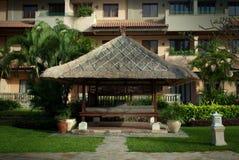 Zona della stazione termale dell'hotel dell'Indonesia, isola del Bali, Aston Bali Immagini Stock Libere da Diritti