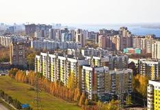 Zona di alloggiamento sociale nella città del Samara Fotografia Stock