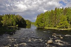 Zona di color salmone svedese Fotografie Stock