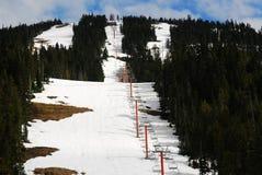 Zona di corsa con gli sci in montagna Washington immagini stock