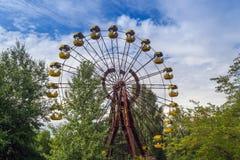 Zona di esclusione di Cernobyl - di Pripyat fotografie stock