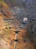 Zona di estrazione mineraria Fotografia Stock
