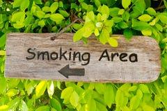Zona di fumo Immagine Stock
