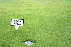 Zona di goccia di golf Fotografia Stock