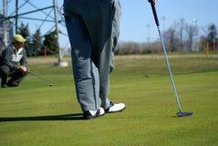 Zona di golf della sosta di ricreazione Fotografia Stock