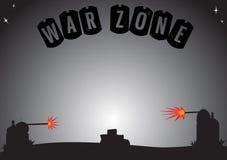 Zona di guerra vuota Fotografie Stock Libere da Diritti