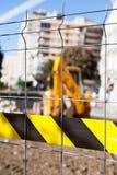 Zona di lavori pubblici Zona limitata Fotografia Stock