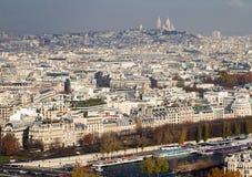 Zona di Montmartre da lontano, Parigi Immagine Stock