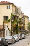 Zona di parcheggio pagata nella vecchia parte di Bourgas, Bulgaria Immagini Stock Libere da Diritti